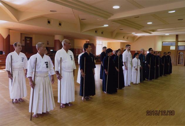 沖縄県剣道連盟 杖道稽古